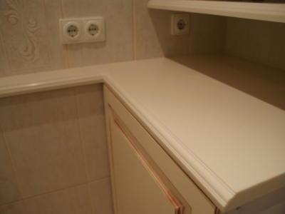 Ванная комната Столешница искусственный камень Corian Vanilla